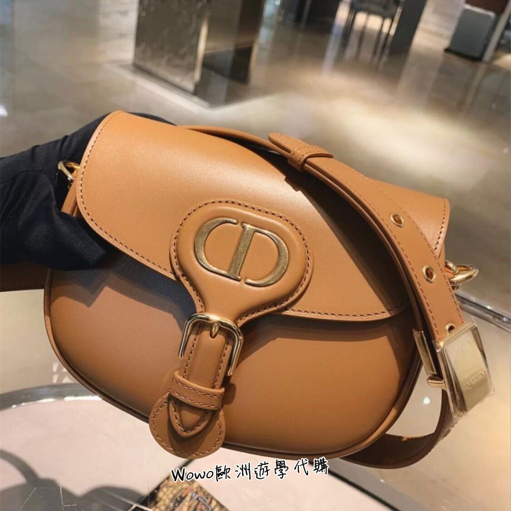 Wowo代購 全新正品Dior 迪奧女包 BOBBY CD字母 抛光小牛皮馬鞍包 肩背包 斜背包 M9317UMOL