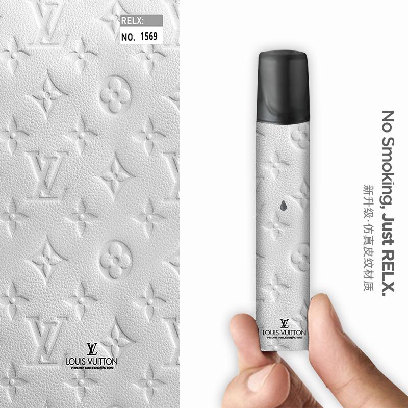 《現貨可批發》悅刻relx煙桿貼紙 RELX悅刻主機貼膜 銳克1代高端保護膜磨砂LV印花個性防摔防刮膜