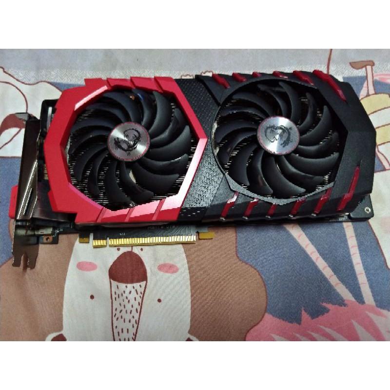 MSI 微星 NVIDIA GTX 1060 GAMING X 6G 紅龍 非 RX 1050ti 1650s 1070