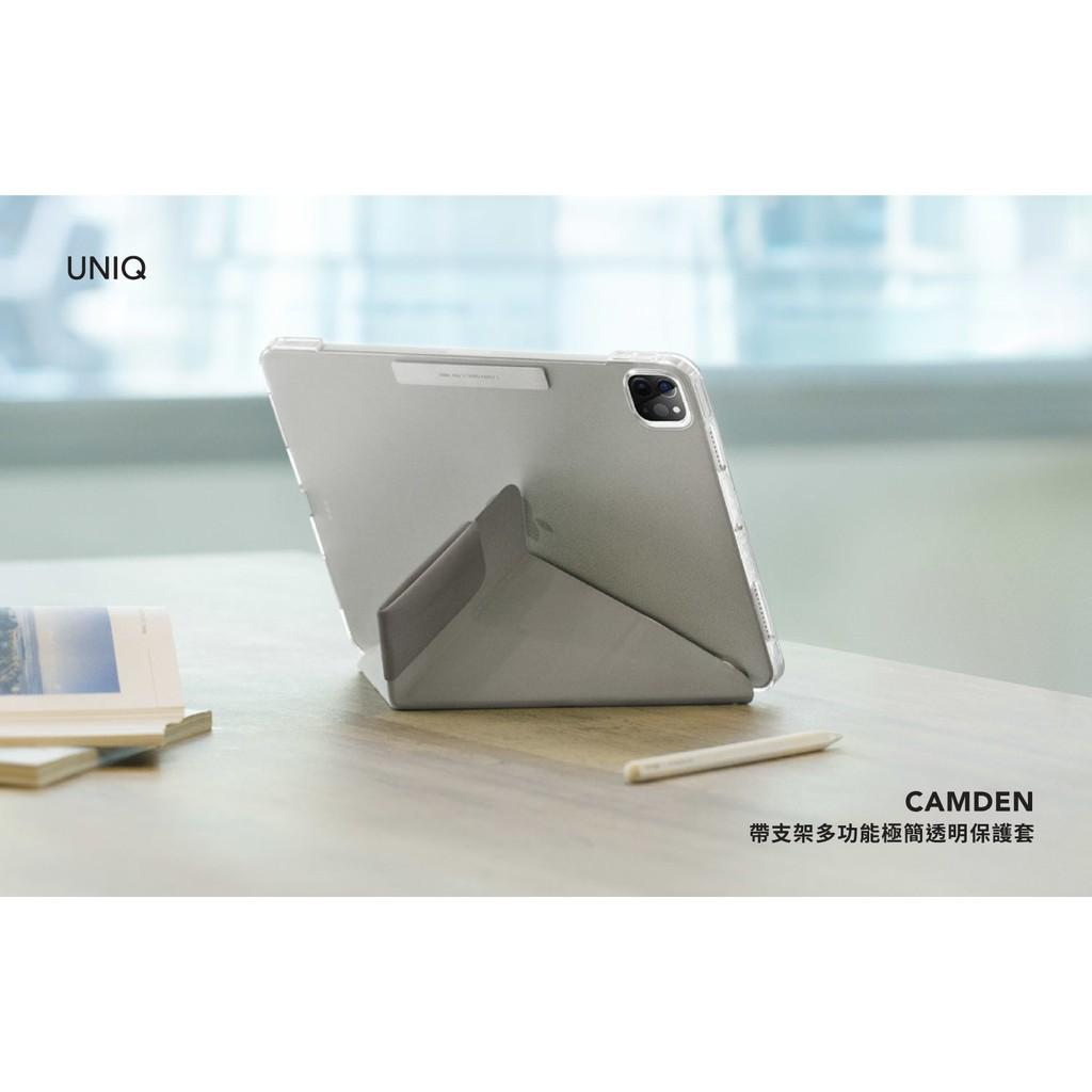 UNIQ Camden 抗菌磁吸設計帶支架多功能極簡透明保護套 iPad Air10.9吋/Pro 11吋(2021)