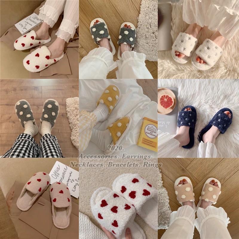 拖鞋▫️冬天必備絨毛拖鞋▫️室內拖鞋▫️點點拖鞋 愛心 拖鞋 星星拖鞋