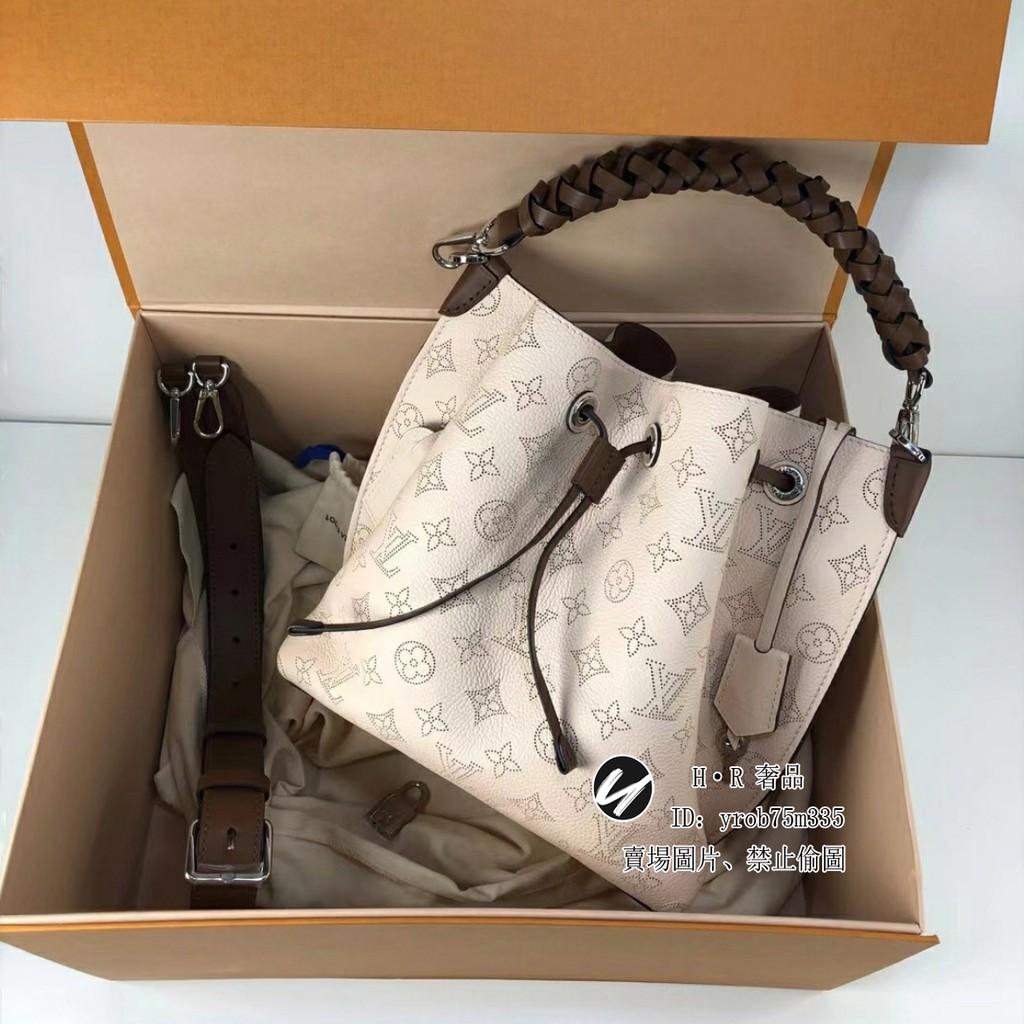 H·R二手 LV 路易威登 MURIA 新款 鏤空水桶包 編織手提包 水桶包 斜挎包 肩背包 M55799