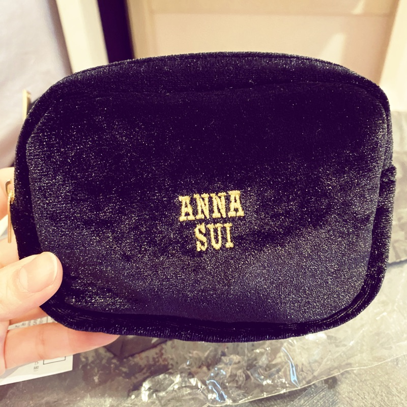 ANNA SUI 贈品包 絲絨 方形 小物包/化妝包/拉鍊包(低價出清)