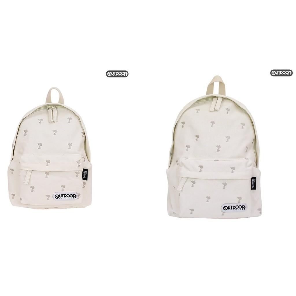 預購 Outdoor x Snoopy 史努比 PEANUTS 米黃刺繡 後背包 獨家 日本直送