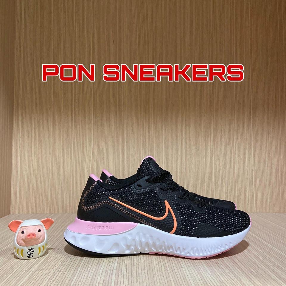 【PON SNEAKERS】Nike Renew Run 女款 慢跑鞋 避震 黑粉 雙密度緩震 CK6360-001