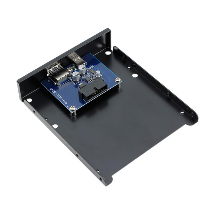 ┅☢▥全新USB3.1 Type-C軟驅位前置面板USB3.0 AF+C母口電腦擴展卡3020