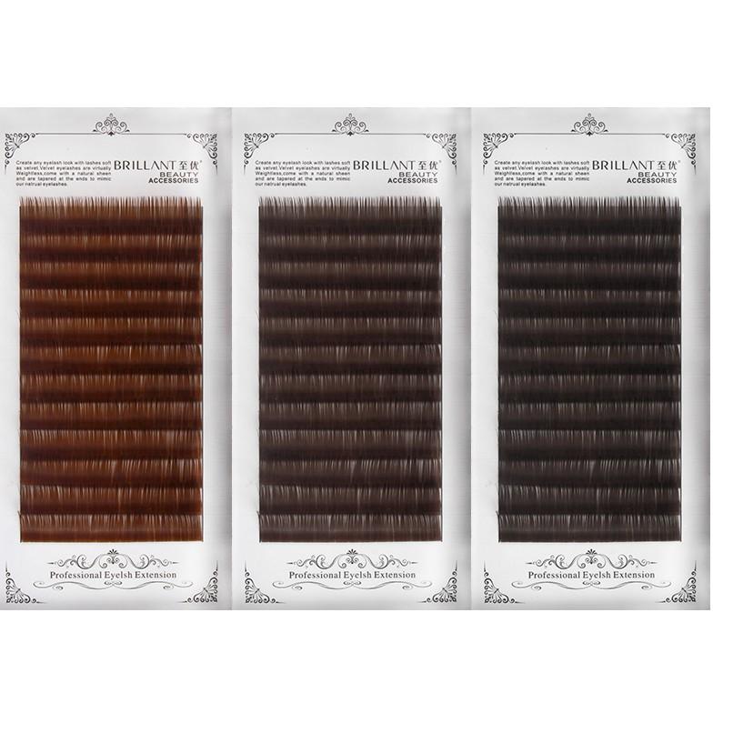 焦糖色嫁接睫毛 自然濃密軟單根密排種植棕色咖啡色睫毛