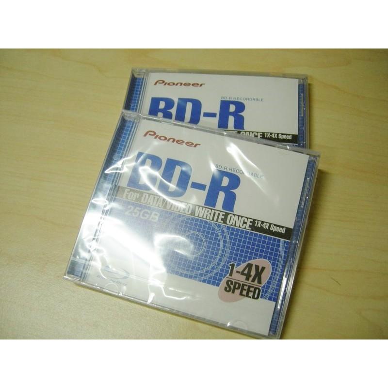 【庫存清倉】先鋒 Pioneer 25GB 1-4X BD-R 藍光空白片(台灣製造)
