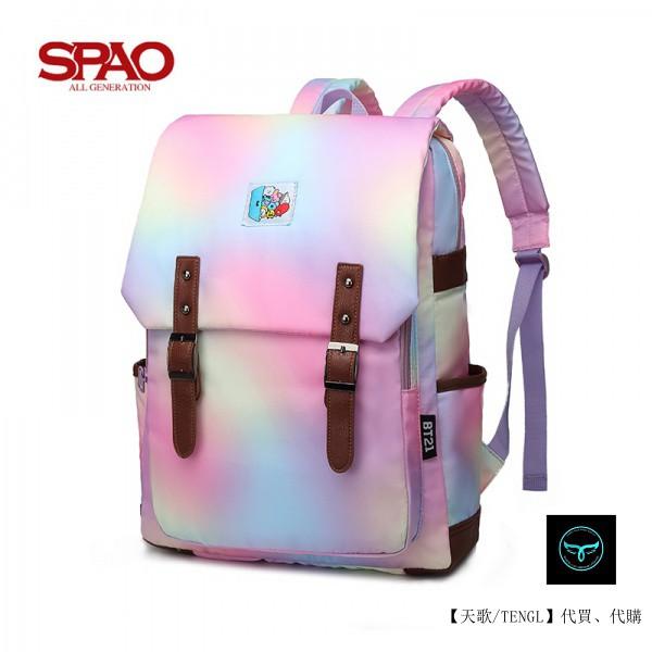 【天歌】全場免運 韓國代購  SPAO防彈少年雙肩包 背包 電腦包 書包 休閒包 後背包 大容量