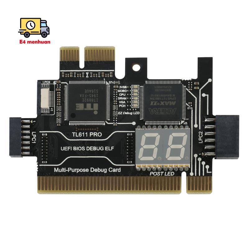 [現貨]-便攜式計算機多功能診斷卡TL611 PRO PCI-E LPC主板診斷測試