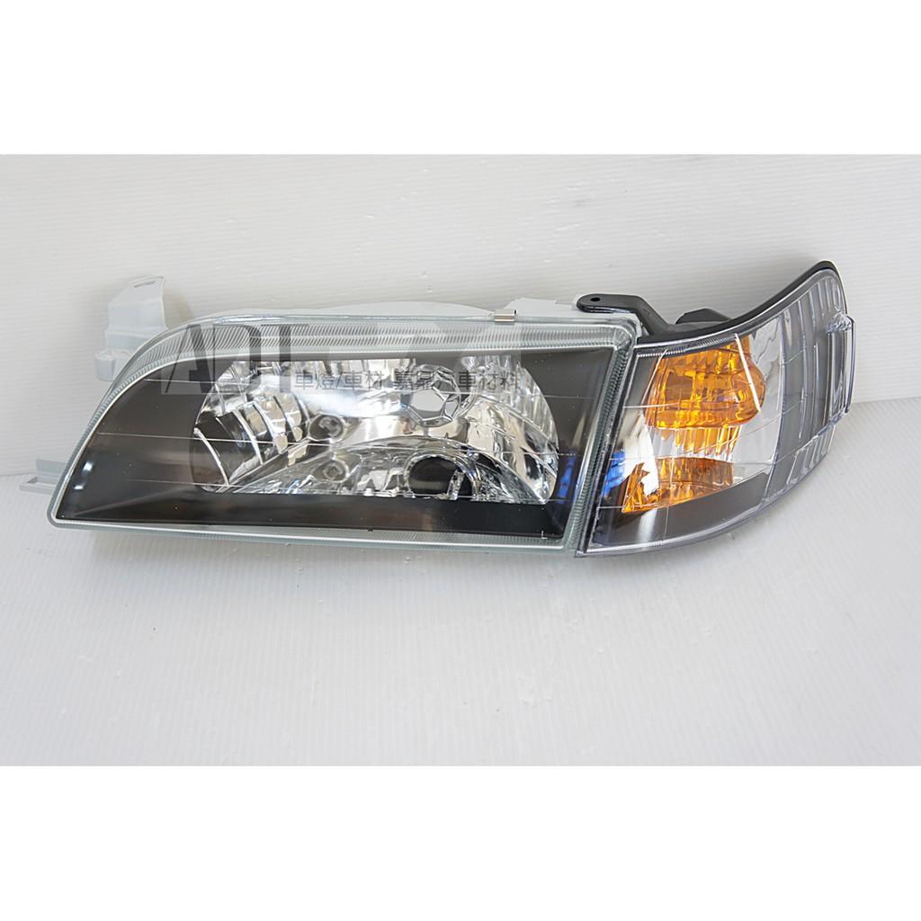 豐田 AE100 AE101 COROLLA 93-97 日規 H4玻璃黑框大燈+角燈+水箱罩