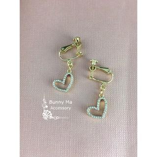 *bunnyma.accessory*甜蜜鑽石小愛心 -耳夾式耳環 台北市