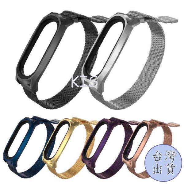 KIS 特價下殺米蘭 磁吸 GT 小米手環6 小米手環5 小米手環4 小米手環3 金屬 替換 錶帶 腕帶 小米6 不鏽鋼