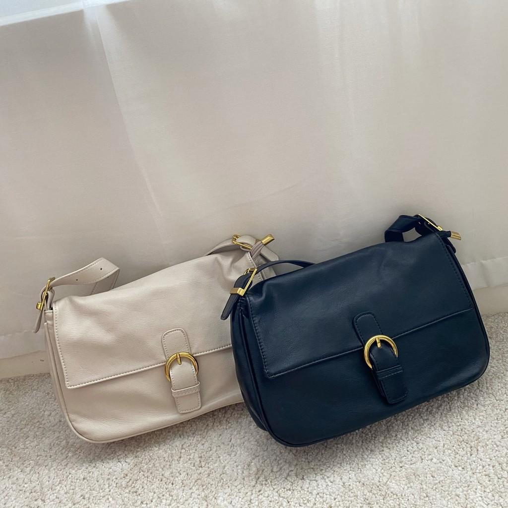 【YUKA】2色軟皮革大容量肩背包 (#7558) 現貨+預購