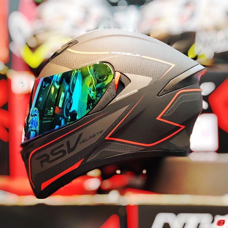 快速出貨+免運 世帽館安全帽 RSV  PAMELA 電波 消光紅 全罩式 輕量化 超透氣