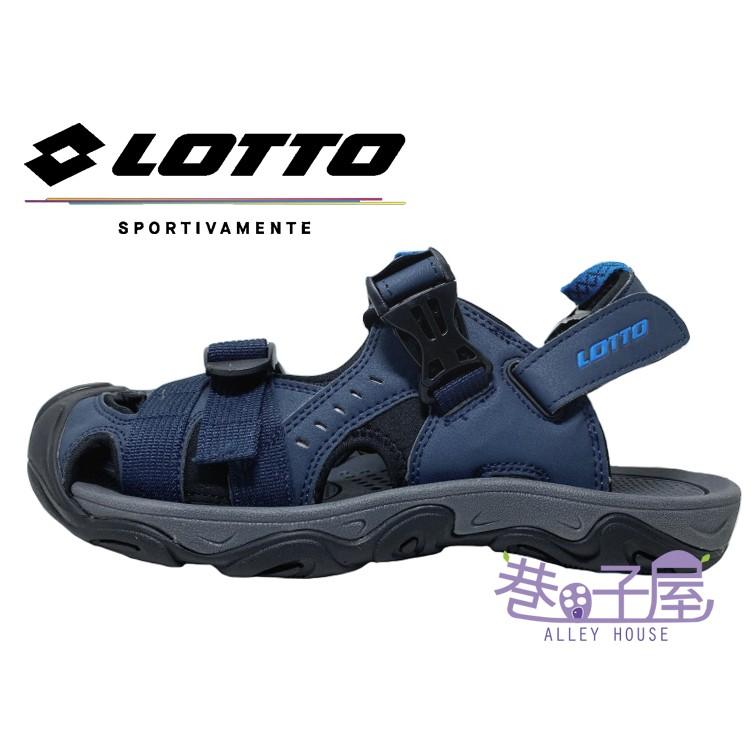 LOTTO樂得-義大利第一品牌 男款兩穿式戶外運動護趾涼鞋 涼拖鞋 [LT9AMS0186] 藍【巷子屋】