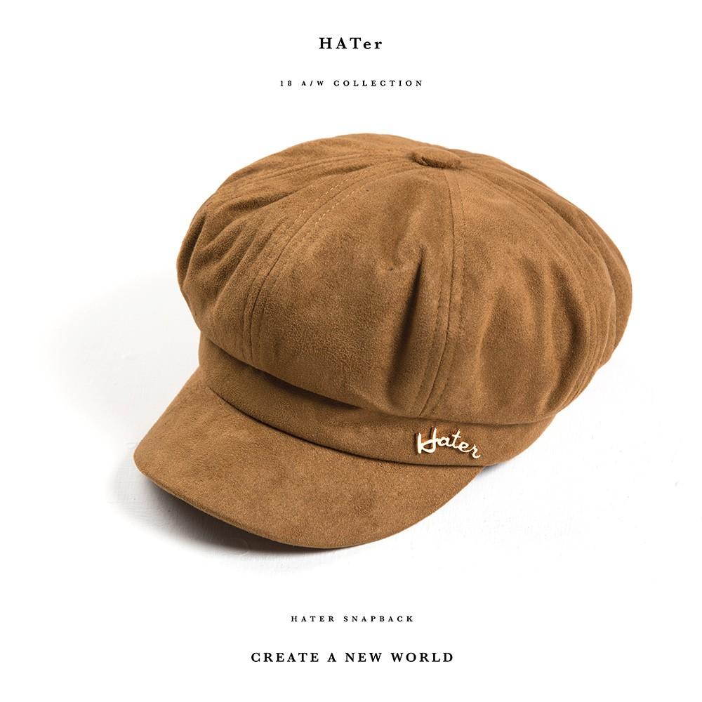 Hater Snapback 【BR/8】Mink Newsboy Cap報童帽
