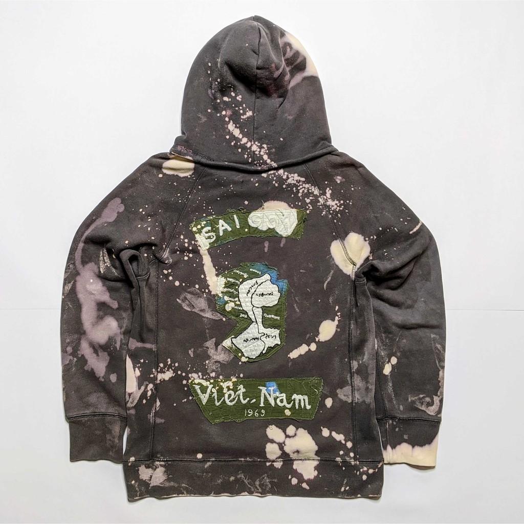 Champion 漂染橫須賀刺繡連帽衫 Champion bleach dye souvenir hoodie