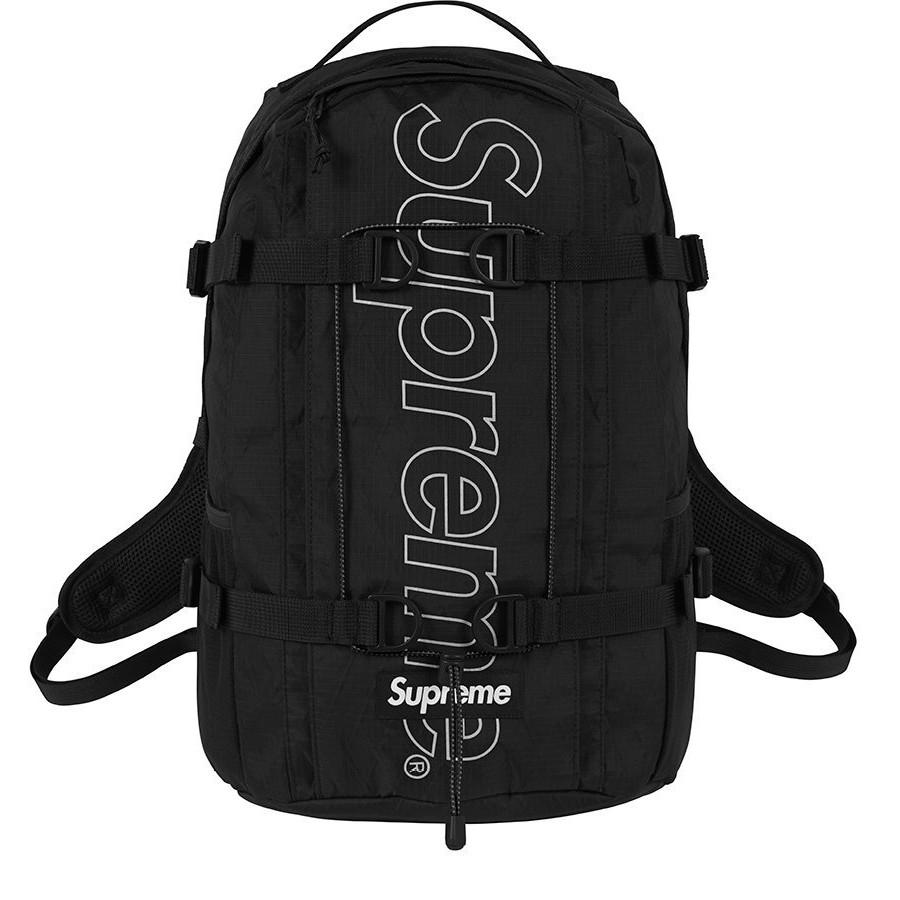 Supreme Backpack 45th 黑色 菱格 防潑水 登山 運動 後背包 現貨 【高冠國際】