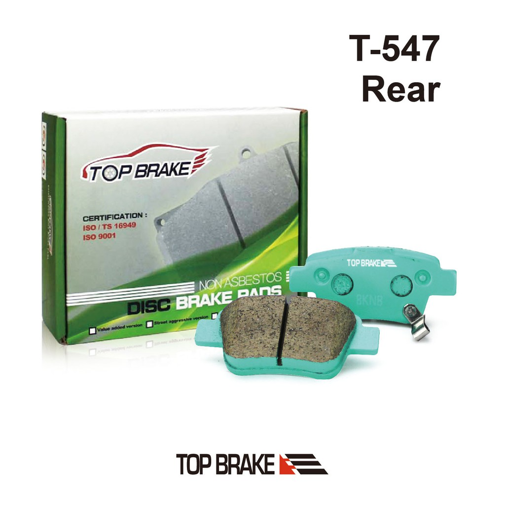 TOPBRAKE 豐田TOYOTA Previa 汽車後碟煞車來令片-特約店免安裝費 T-547