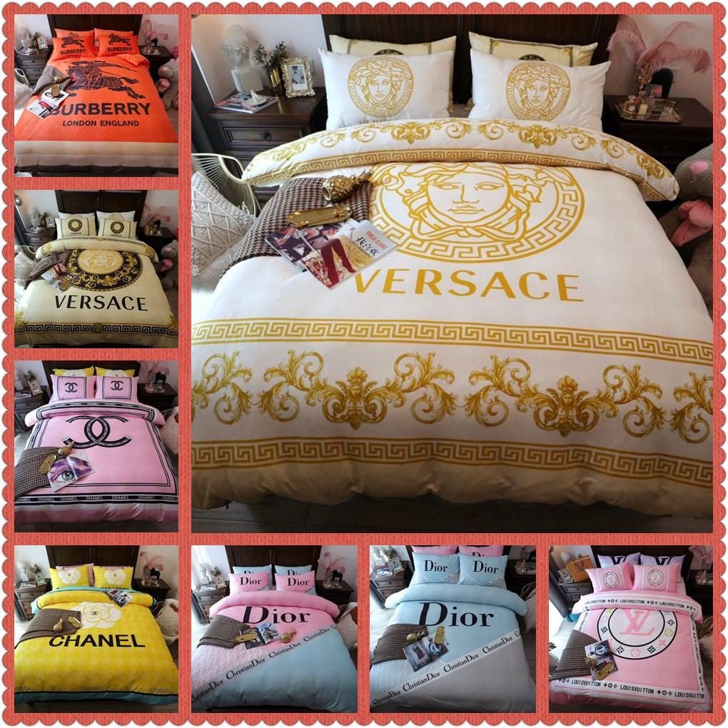 【✨限時下殺】多款潮牌床包四件套 寶寶絨床包 雙人標準/加大床包 LV GUCCI YSL 大牌床包 床包組