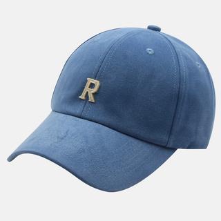 帽子男棒球帽個性R字母刺繡帽素色棒球復古帽潮帽女生帽子carhartt 帽子阿美咔嘰復古簡約質感鴨舌帽
