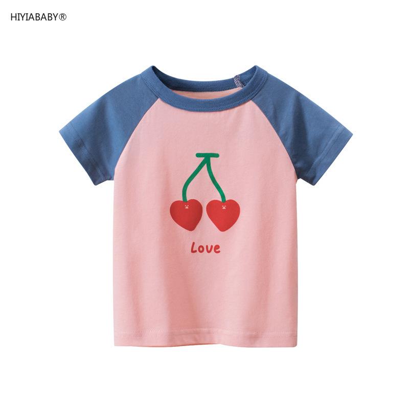 品牌童裝 夏季新款韓版兒童短袖t恤女寶寶衣服