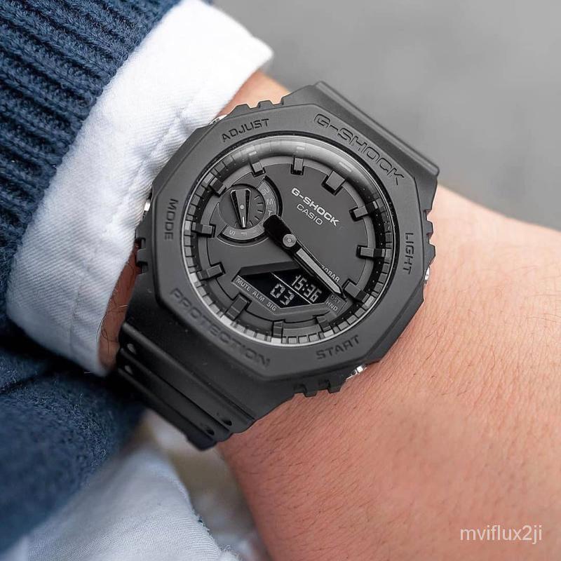 卡西歐G-SHOCK GA-2100-1A1/2110ET-2A/8A/SU-3A/1A/TH電子男手錶 SRnp