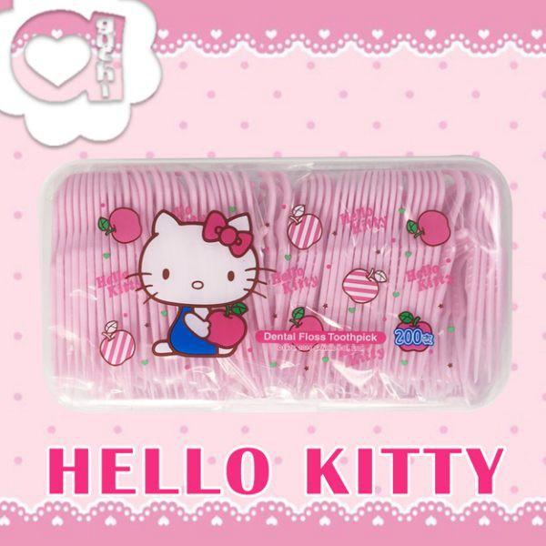 Hello Kitty 凱蒂貓超韌牙線棒 200支 X 6 盒
