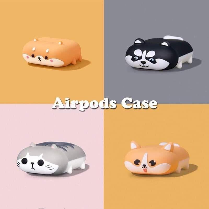 新款 趴趴柴犬/貓咪系列AirPods pro保護套3代 1代 2代蘋果耳機套 矽膠防摔保護套 創意男生女生 生日禮