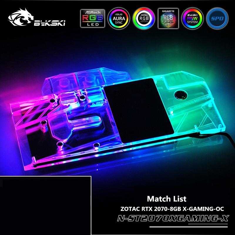 Bykski N-ST2070XGAMING-X適用於ZOTAC RTX 2070-8GB X-GAMING-OC顯卡A