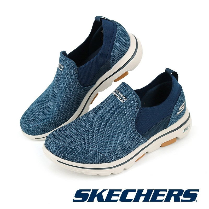 【SKECHERS】健走系列 GOWALK 5 - 216027NVBR - 藍咖 男 - 原價2790元