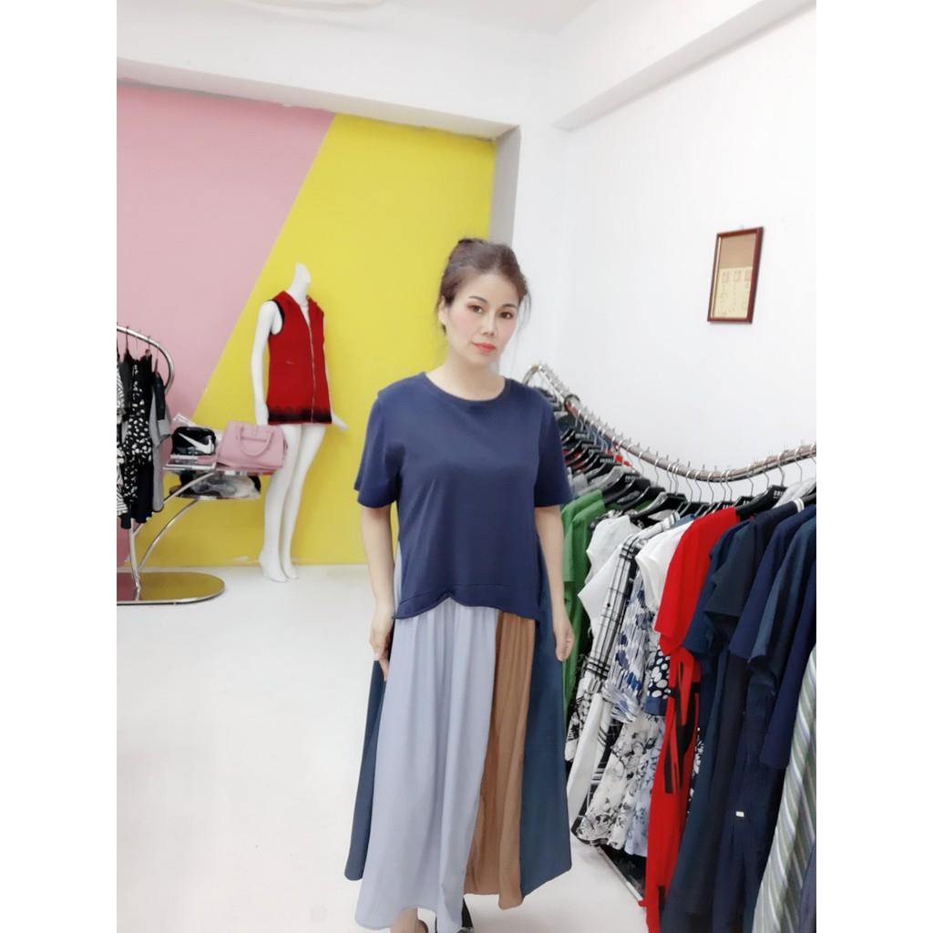 PerGIBo法式連身拚色長短袖洋裝(P39802)