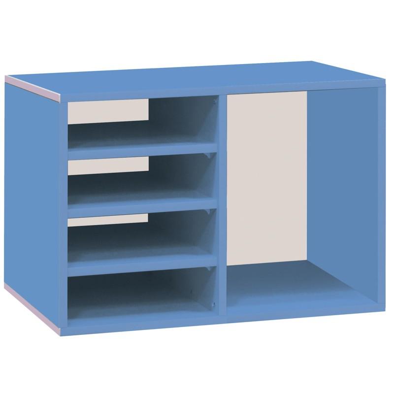 【C1009-02】開放式文件收納櫃(C-145)(藍色)