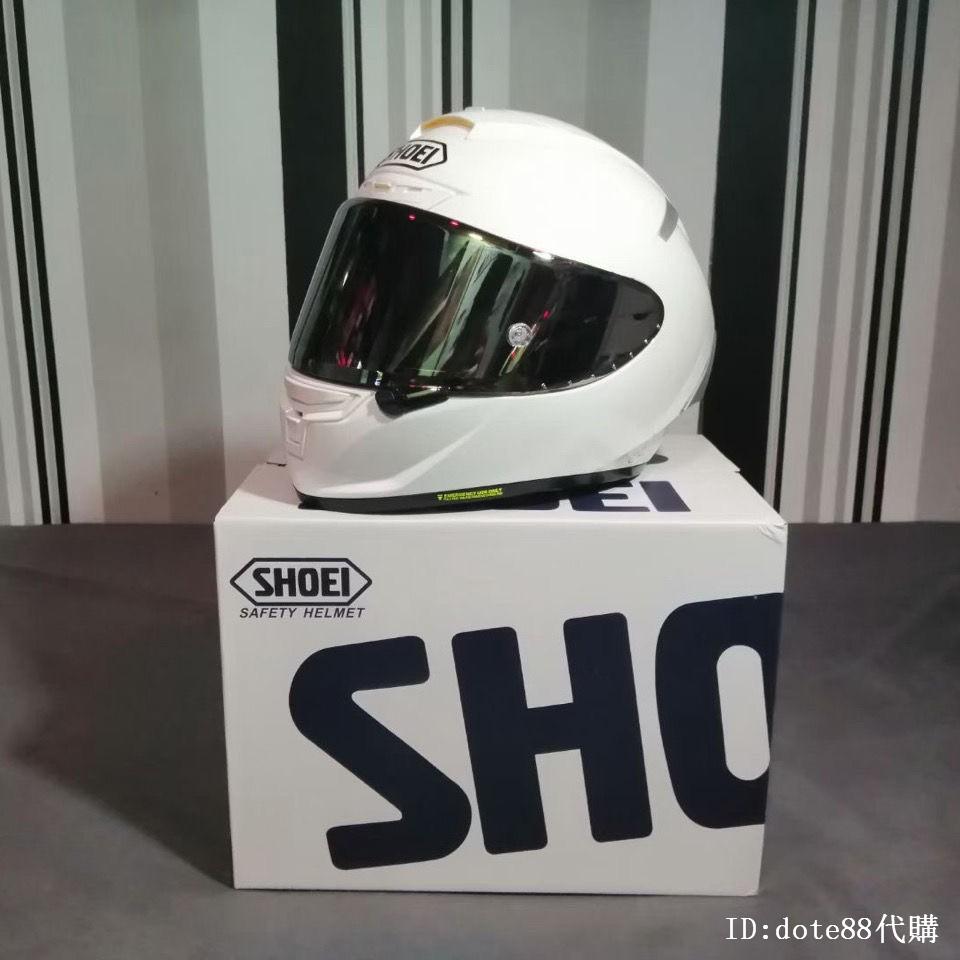shoei x14 X-FOURTEEN素白純白頭盔機車帽子比賽道四季全盔雙D扣男女摩托車全罩安全帽情侶電動帽玻璃鋼代購