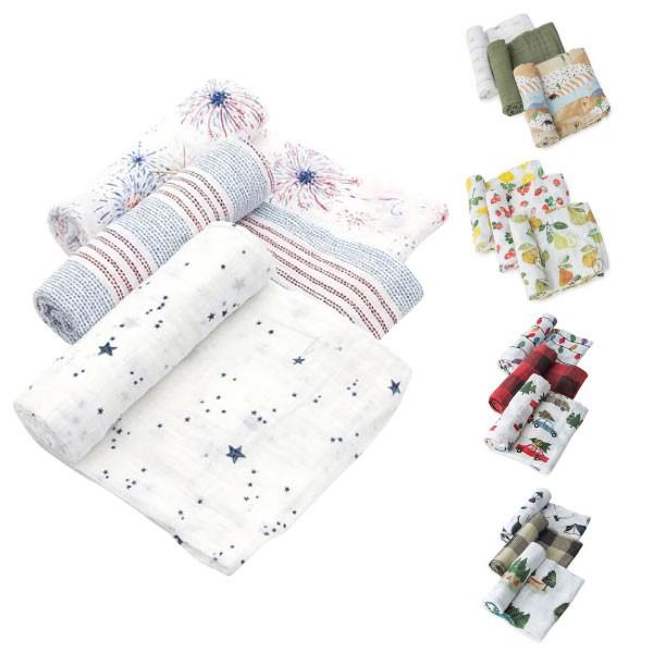 美國 Little Unicorn 純棉紗布巾三入組(5款可選)包巾(精美禮盒裝)【麗兒采家】
