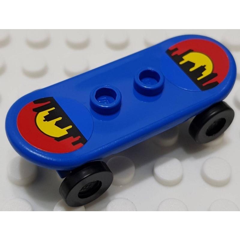 樂高 42511 7641 60031 藍色 滑板 滑板車 貼紙 配件