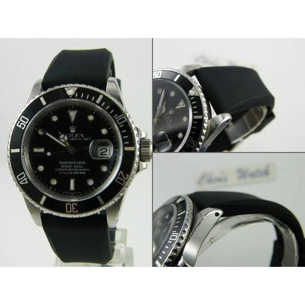 【錶帶家】22mm 或 20mm 代用 Rolex 勞力士 ORIS SEIKO ARMANI 原廠樣式素面高級矽膠錶帶