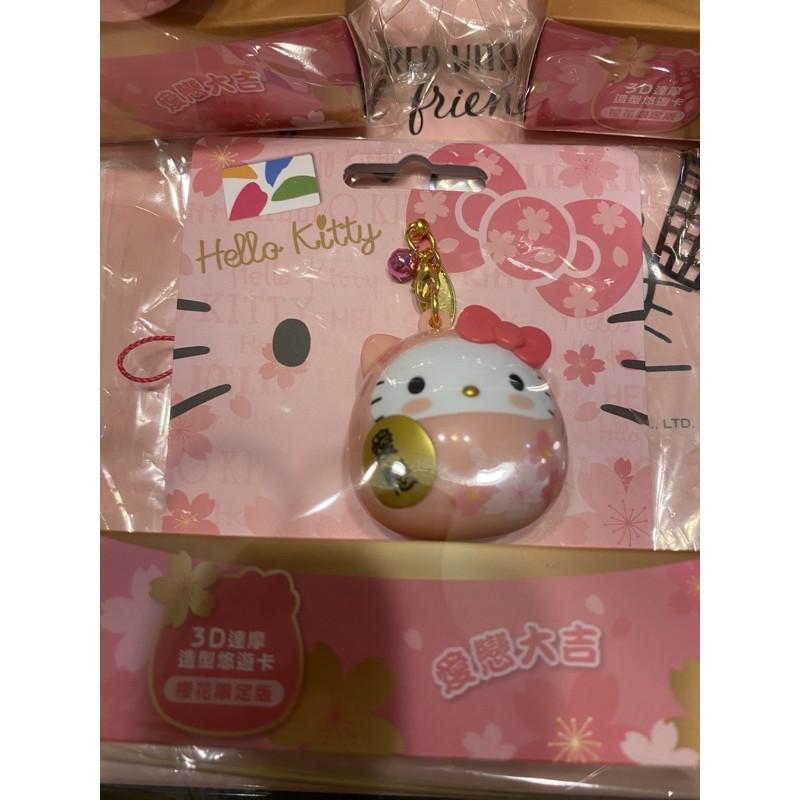 hello Kitty 粉達摩 造型 悠遊卡