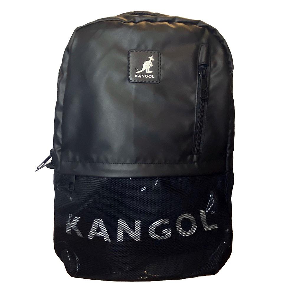 KANGOL 黑 經典LOGO 網布 大容量 後背包 6025320720