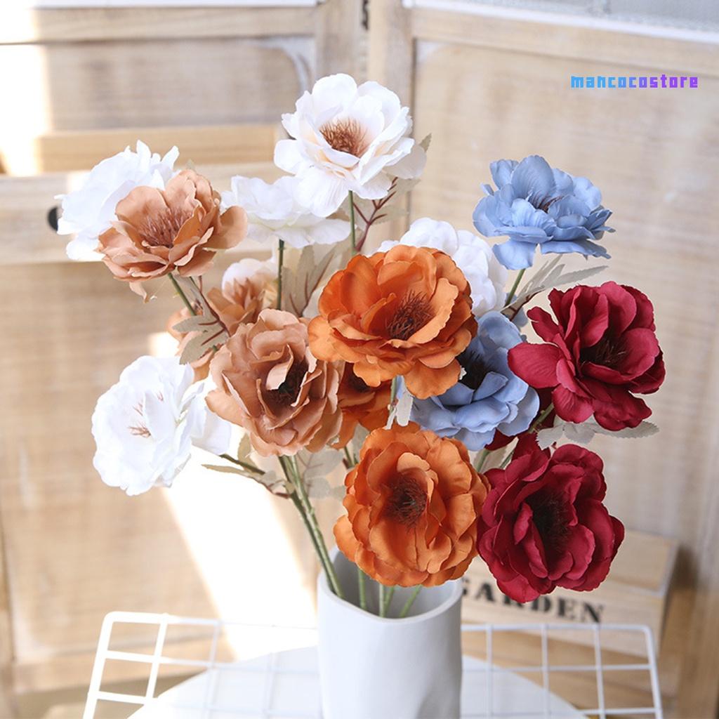 【COCO】仿真三頭梔子花 單支梔子花 婚慶家居客廳酒店裝飾花材布花仿真花