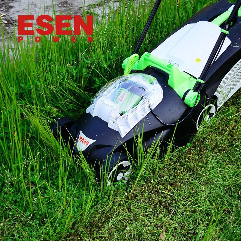 ESEN充電式手推電動割草機 電動家用除草機鋰電草坪割草機剪草機