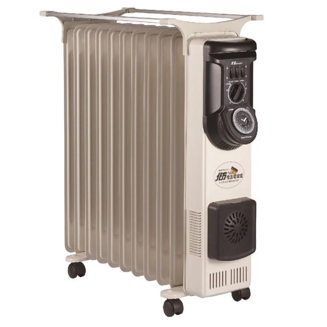 北方11葉片式恆溫定時電暖爐 NA-11ZL