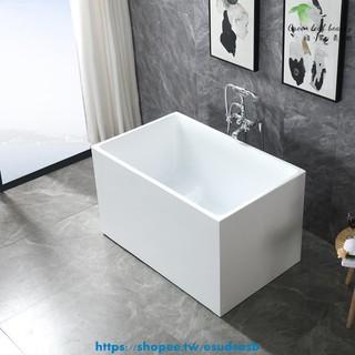 浴缸 小浴缸 折疊浴缸 小浴缸家用小戶型日式深泡亞克力獨立一體式可移動坐式超迷你方缸