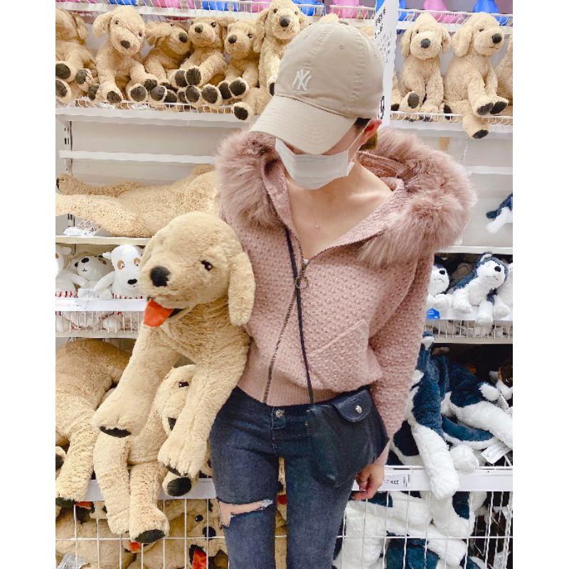 12月正韓實拍新款💯狐狸毛針織外套💰特價1480