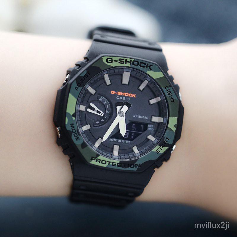 卡西歐G-SHOCK GA-2100SU/2110SU-3A/TH-1A/4A/THB-7A 電子男手錶 5mJn