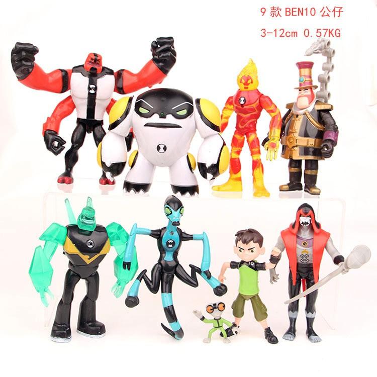 少年駭客BEN10超能獸田小班火焰人手辦人偶外星英雄玩具公仔擺件