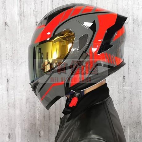 【現貨】Orz頭盔男女電動摩托車揭面盔全盔尾翼半盔安全帽個性冬季機車頭盔