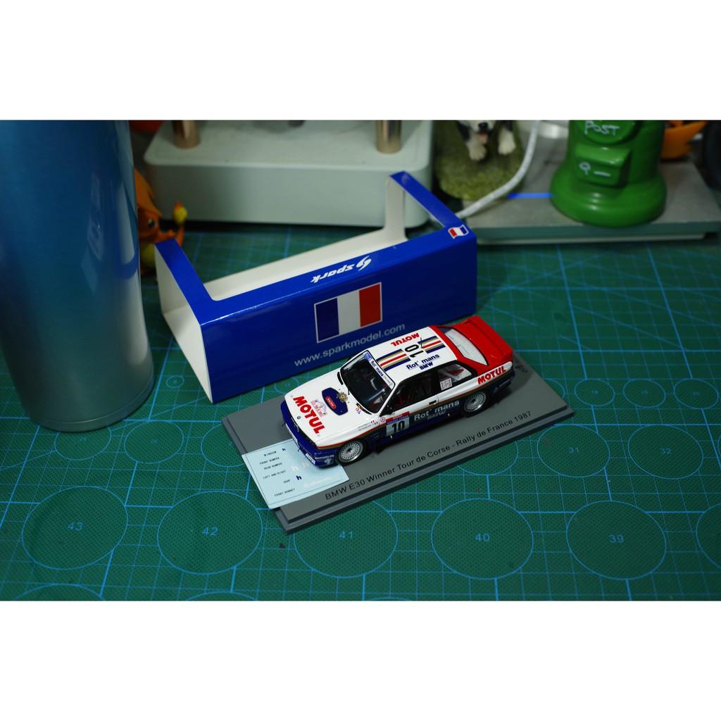 現貨SPARK模型 1/43 1987亞爾薩斯 寶馬 BMW E30 10#