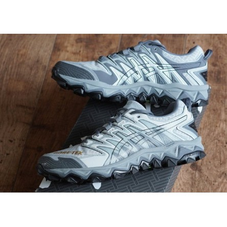 全新爆款 ASICS BEAMS GEL FUJITRABUCO 7 GORE-TEX 白灰黑 G-TX 防水越野跑鞋